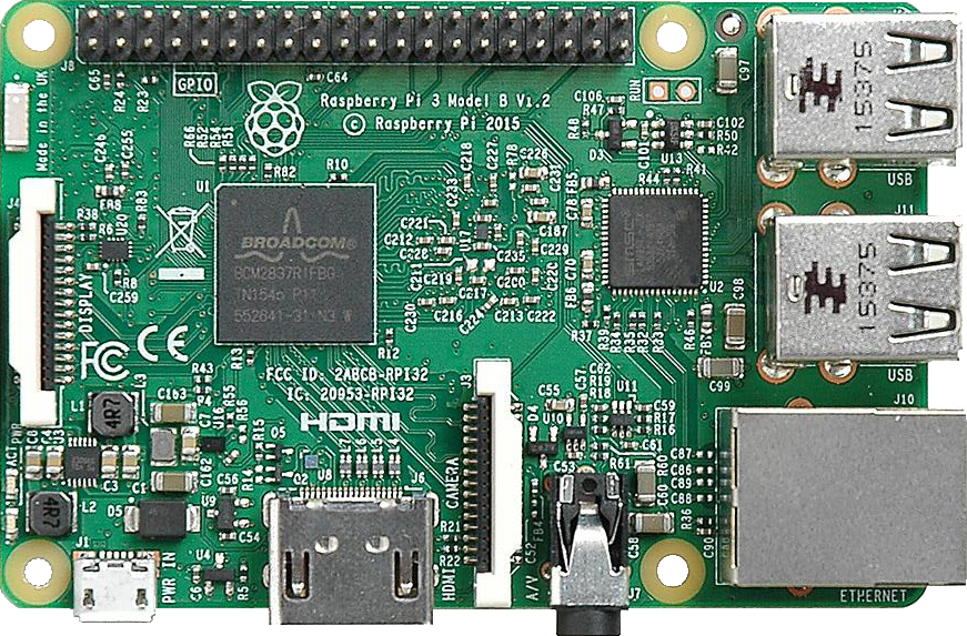 Raspberry Pi Board Front