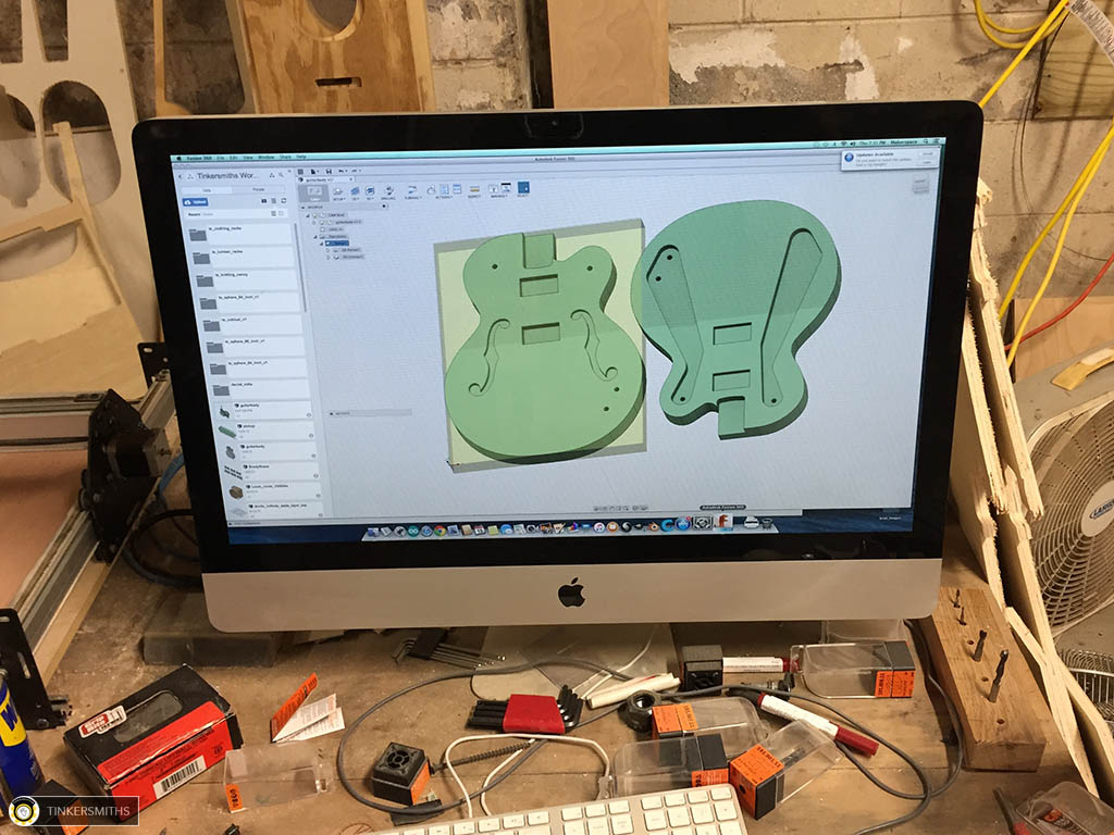 Guitar Making CAD/CAM by Tinkersmiths Makerspace
