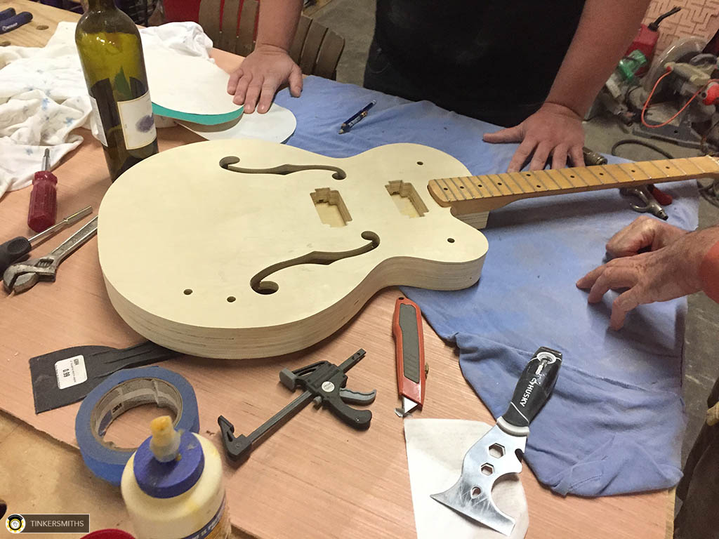 Hollow Body Guitar Making Charlottesville VA