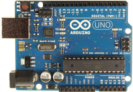 Arduino Microcontroller Board Front